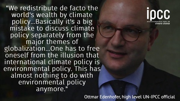 Climate policy has nothing to do with environmental policy.